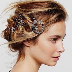 Free People hair clips 3 star arrow wreath new